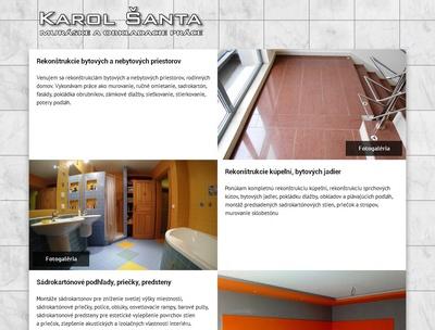 Jednostránková prezentácia / single page web